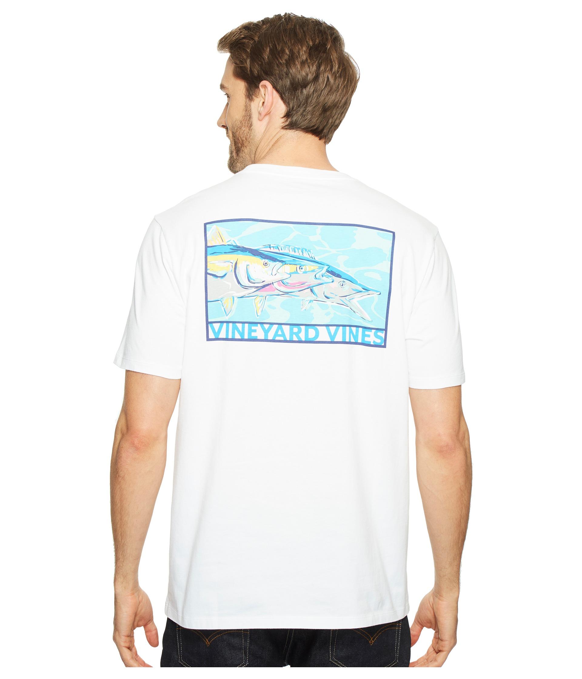 Vineyard vines short sleeve tri blend fish pocket t shirt for Vineyard vines fishing shirt