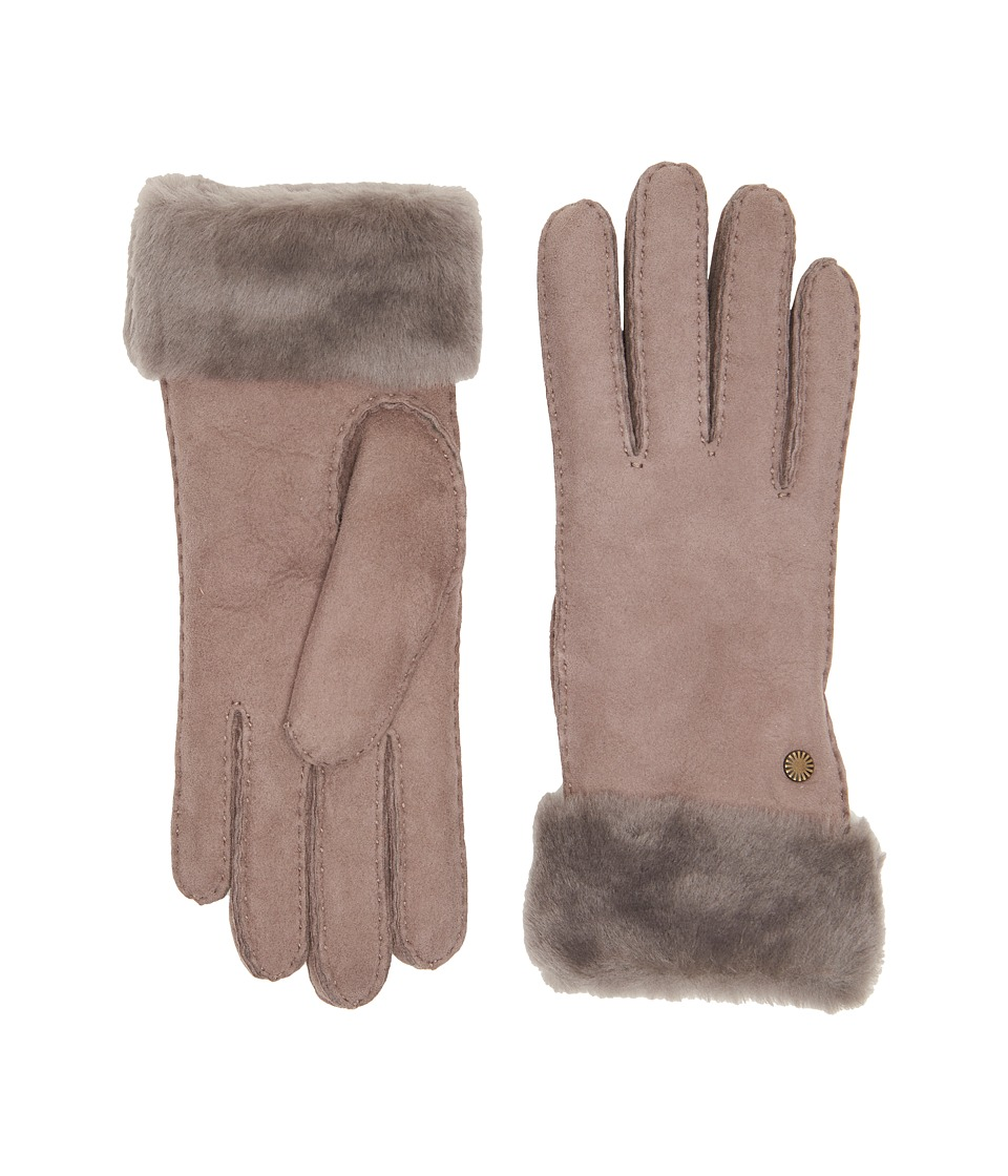 UGG - Classic Turn Cuff Waterproof Sheepskin Gloves (Stormy Grey) Extreme Cold Weather Gloves