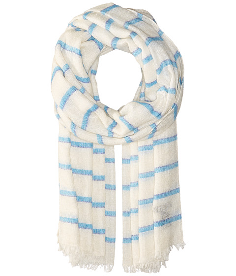 rag & bone Rowing Stripe Scarf - White