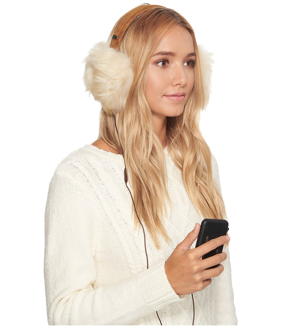 Ugg Classic Sheepskin Wired Earmuff (Chestnut) Cold Weath...