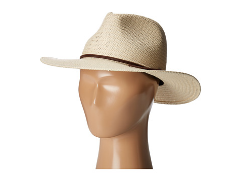 rag & bone Packable Straw Fedora - Natural