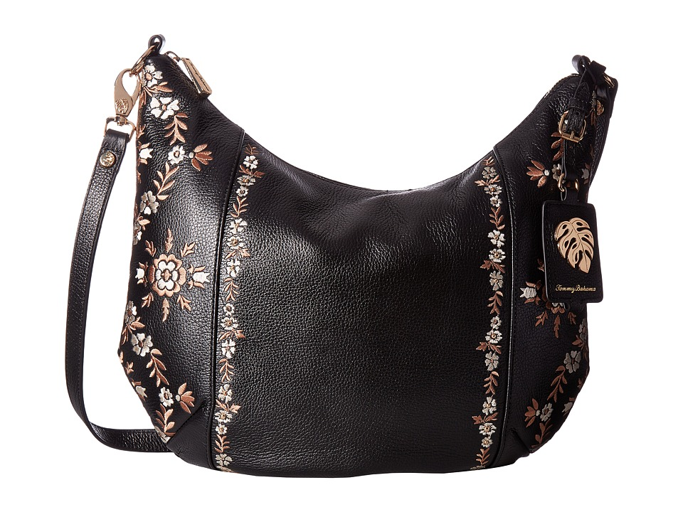Tommy Bahama LA Jolla Hobo (Black) Hobo Handbags