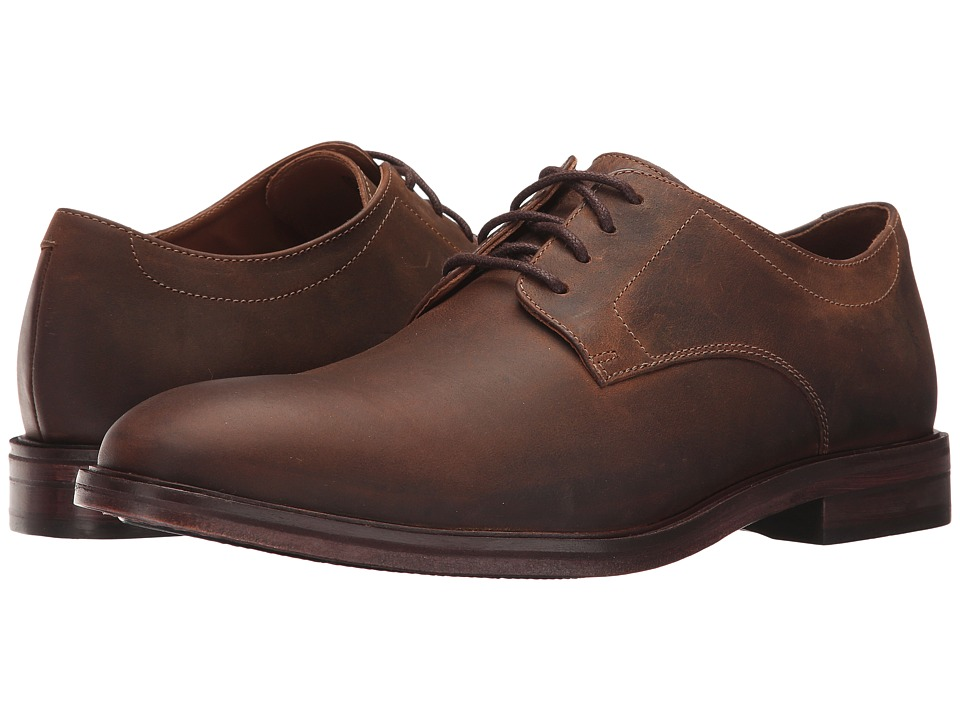 Bostonian - Mckewen Plain (Brown Leather) Mens Plain Toe Shoes
