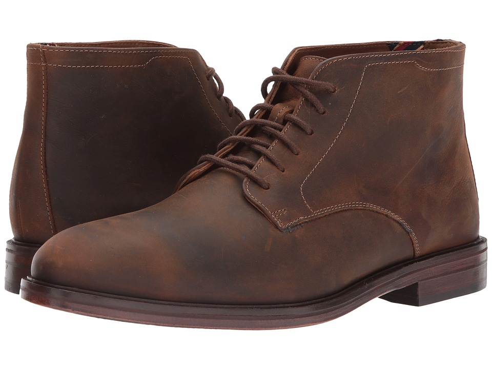 Bostonian - Mckewen Rise (Brown Leather) Mens Lace Up Wing Tip Shoes