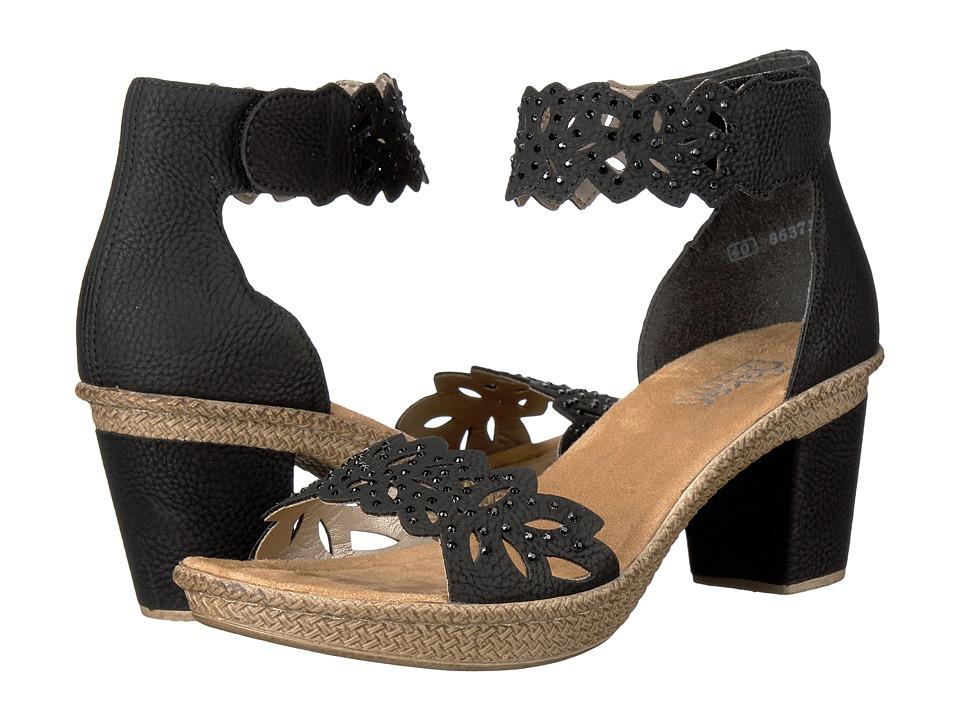 Rieker Antistress 66555 Rabea 55 (Black) Women's  Shoes