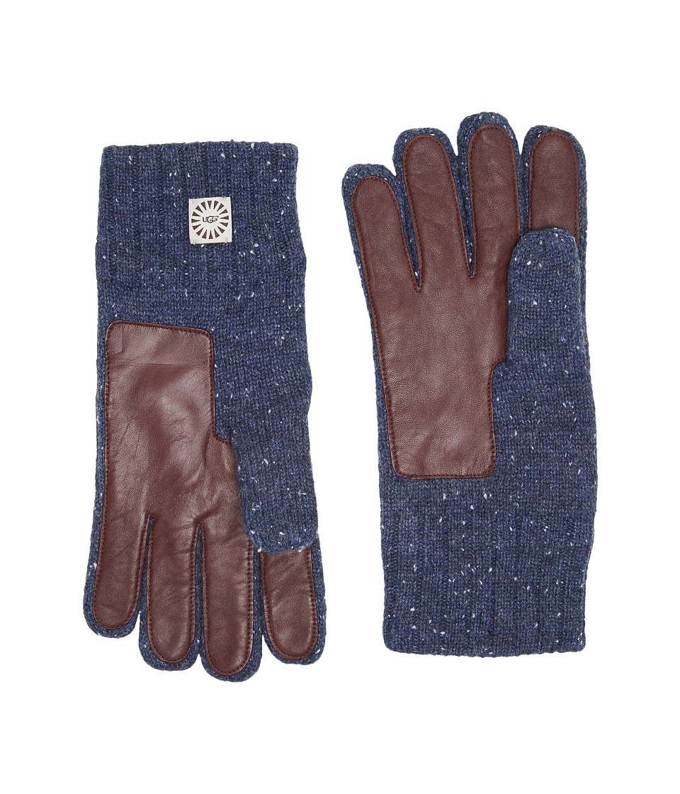 UGG Knit Gloves w/ Smart Leather Palm (Oceanic Heather) Extreme Cold Weather Gloves