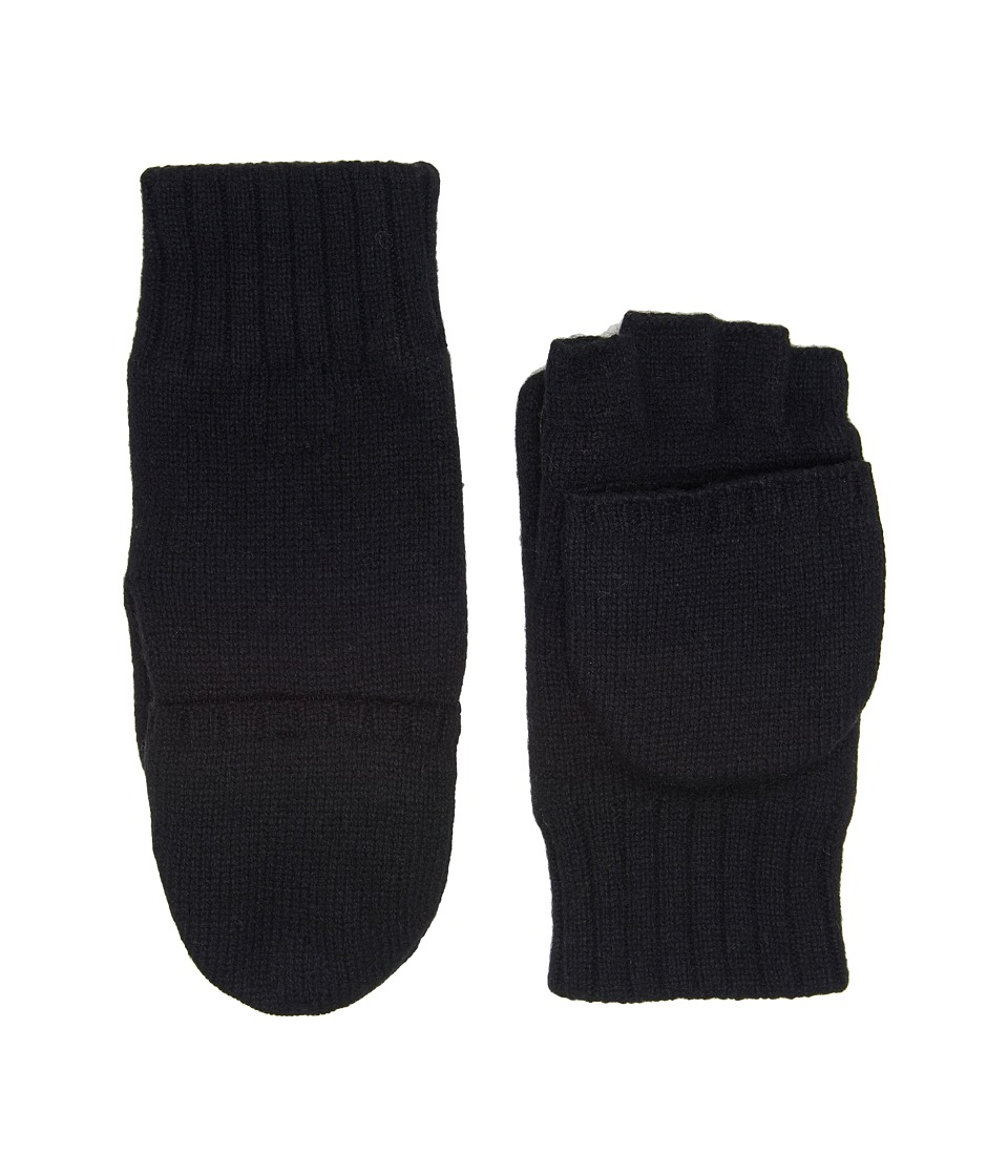 UGG Classic Knit Flip Mittens (Black) Extreme Cold Weather Gloves