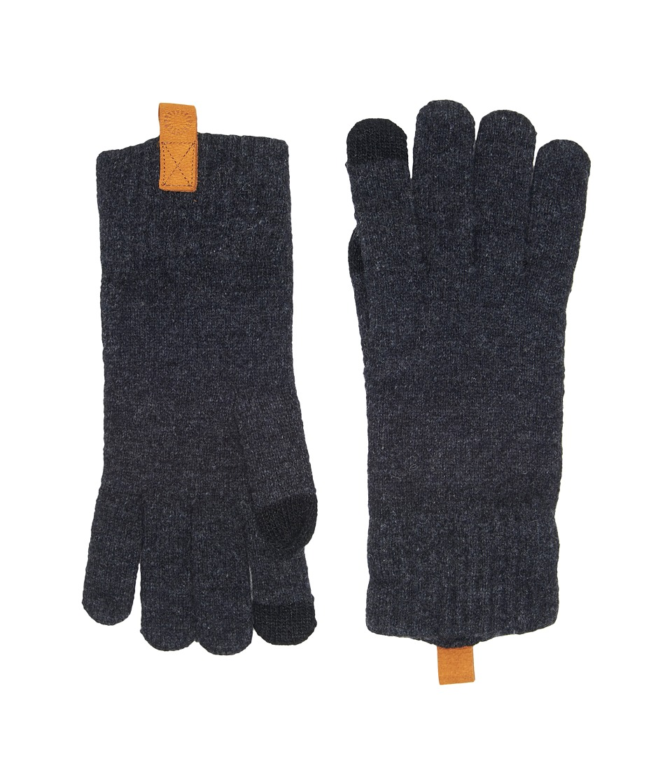 UGG Classic Knit Smart Gloves (Graphite Heather) Extreme Cold Weather Gloves