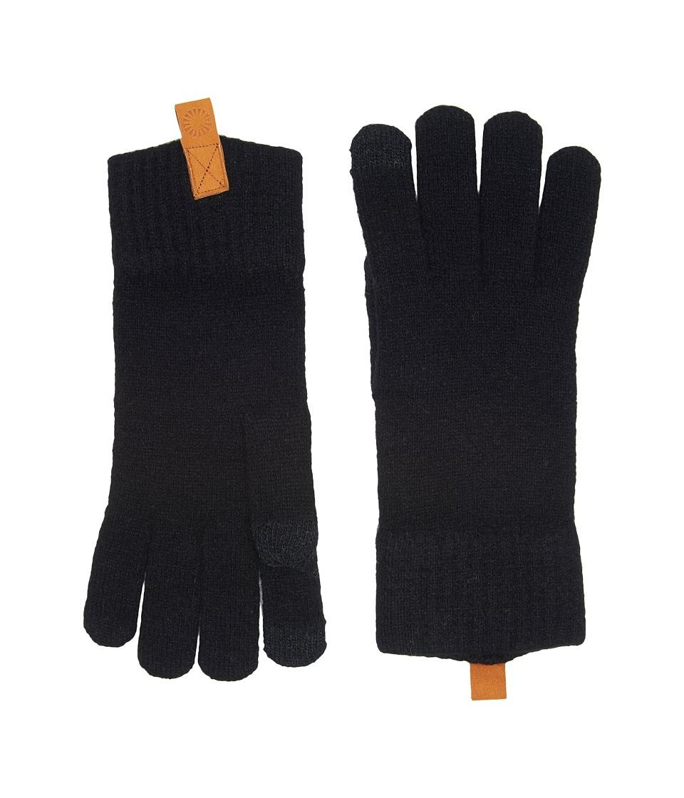 UGG Classic Knit Smart Gloves (Black) Extreme Cold Weather Gloves