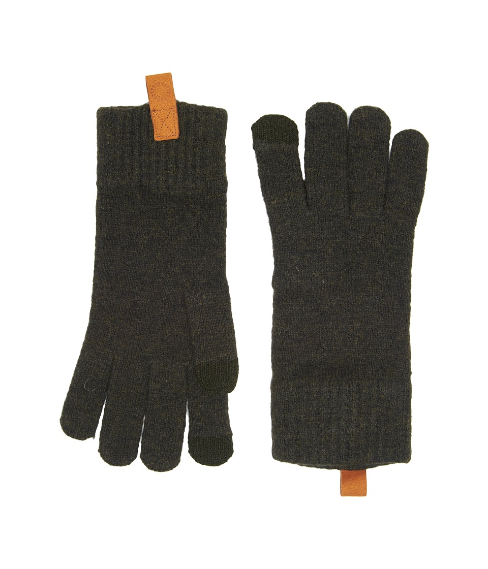 UGG Classic Knit Smart Gloves (Spruce) Extreme Cold Weather Gloves