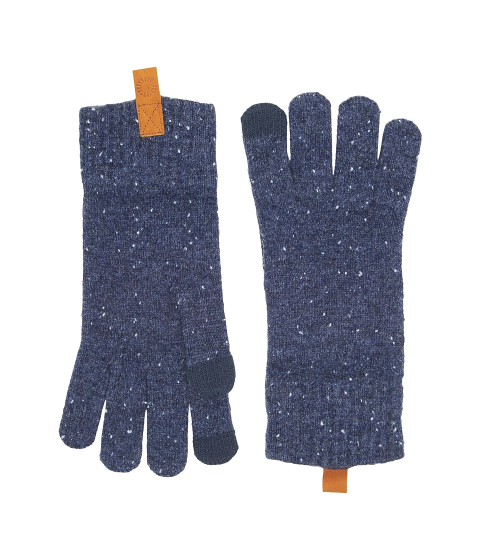 UGG Classic Knit Smart Gloves (Oceanic Heather) Extreme Cold Weather Gloves