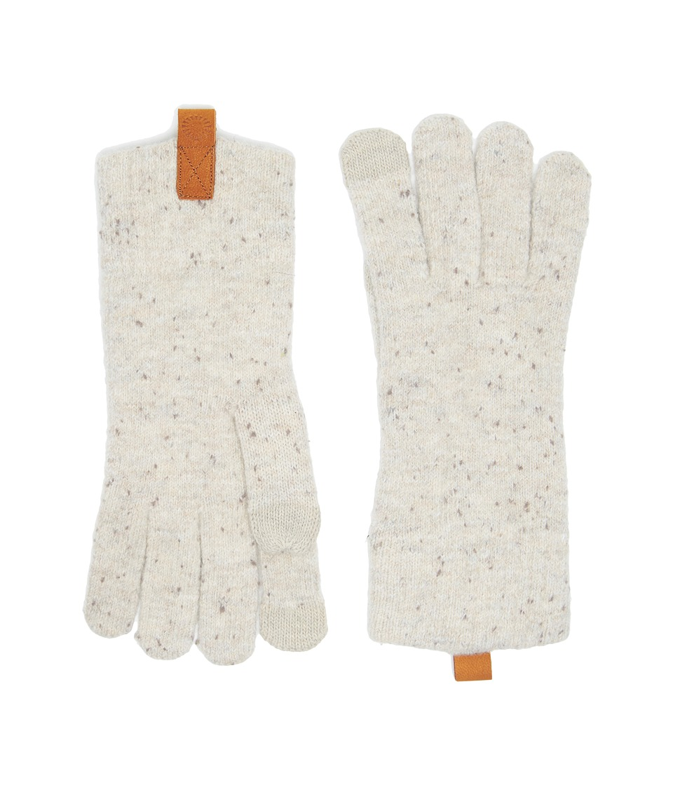UGG Classic Knit Smart Gloves (Birch Heather) Extreme Cold Weather Gloves