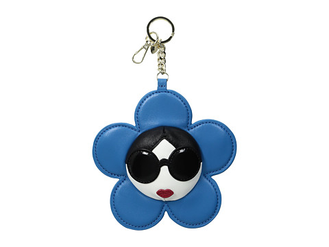 Alice + Olivia Large Stace Face Leather Flower Charm