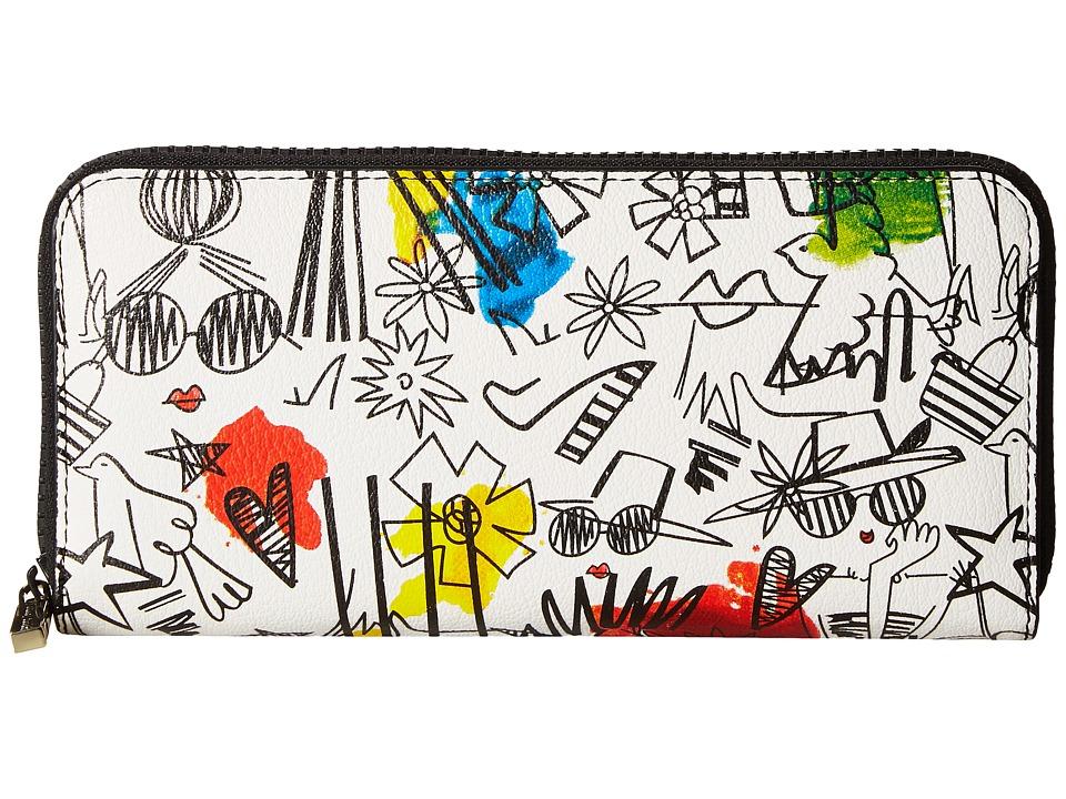 Alice + Olivia - Stace Face Graffiti Print Long Wallet