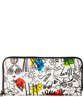 Alice + Olivia - Stace Face Graffiti Print Long Wallet