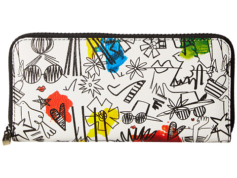 Alice + Olivia Stace Face Graffiti Print Long Wallet
