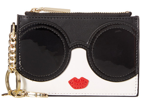 Alice + Olivia Stace Face Zip Coin Pouch Key Charm