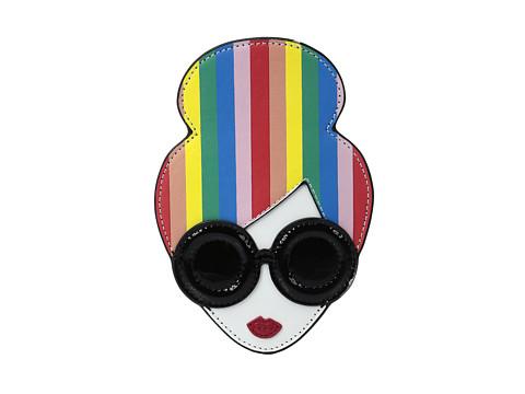 Alice + Olivia Rainbow Print Stace Face Credit Card Case