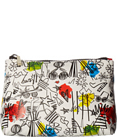 Alice + Olivia - Stace Face Graffiti Print Small Cosmetic Pouch