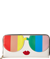 Alice + Olivia - Rainbow Print Stace Face Long Zip Wallet
