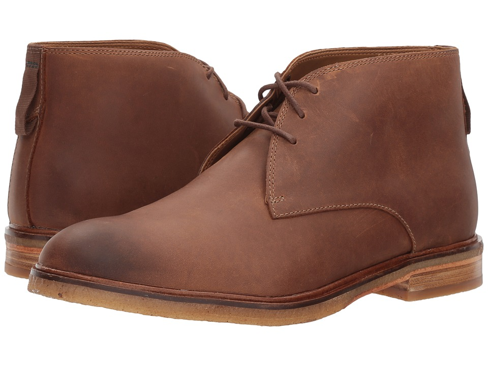 Clarks Clarkdale Bara (Dark Tan Leather) Men