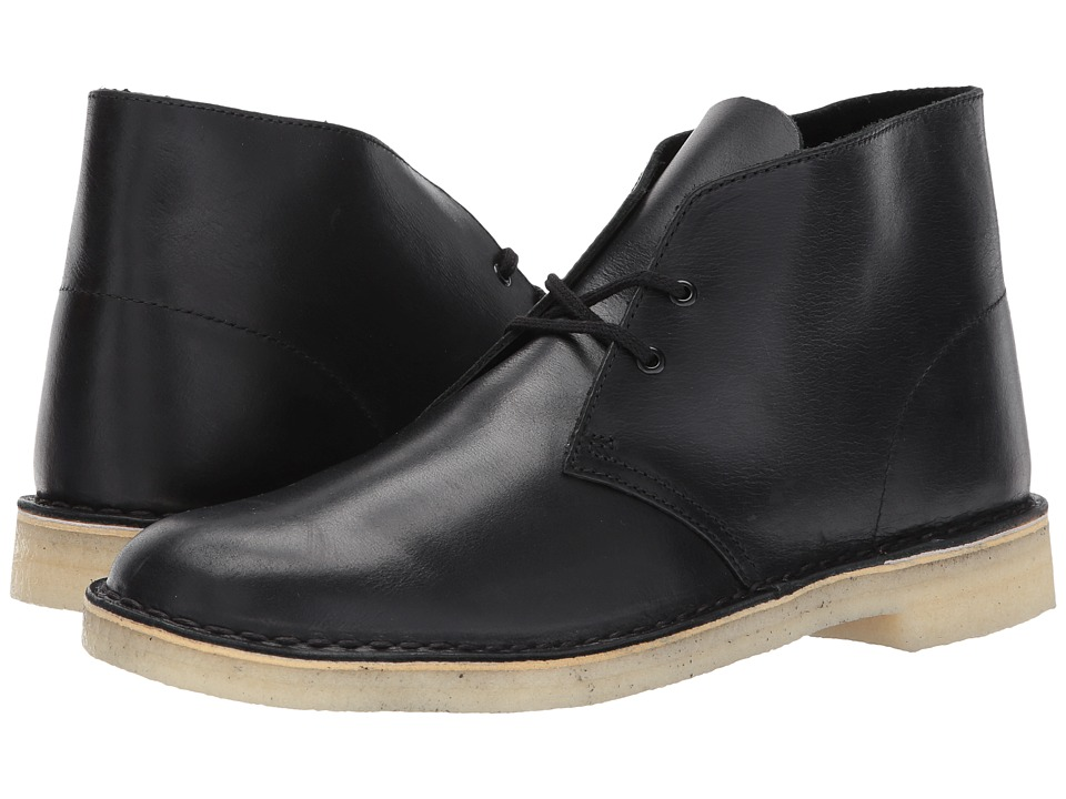 Clarks Desert Boot (Black Leather 2) Men