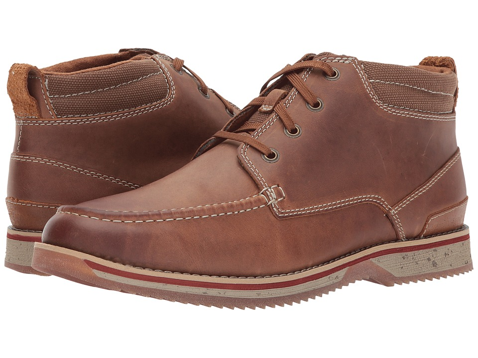 Clarks Katchur Top (Dark Tan Nubuck) Men