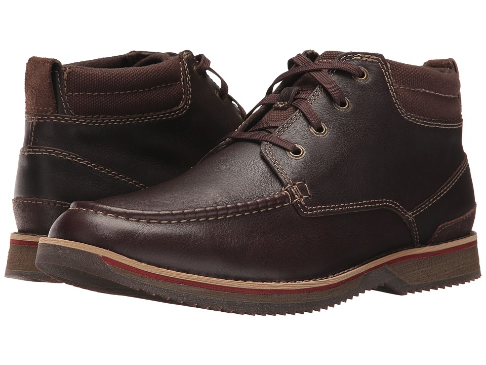 Clarks Katchur Top (Dark Brown Leather) Men