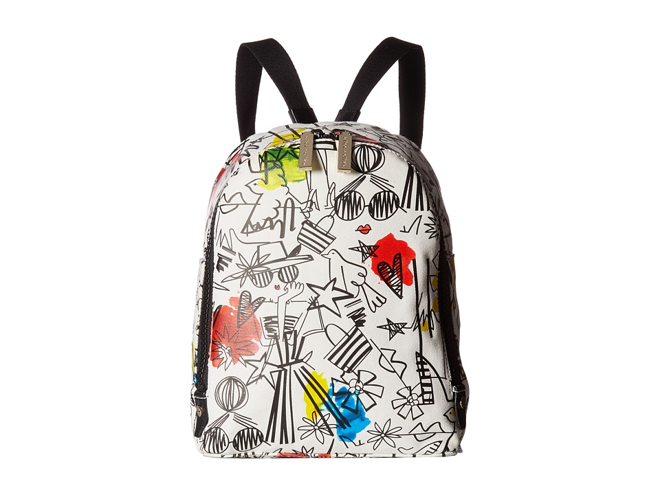 Alice + Olivia - Stace Face Graffiti Print Small Backpack
