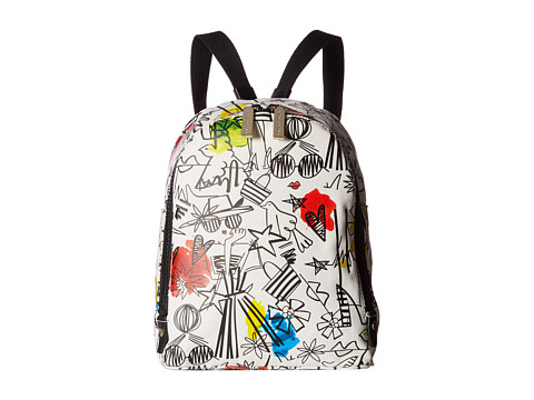 Alice + Olivia Stace Face Graffiti Print Small Backpack