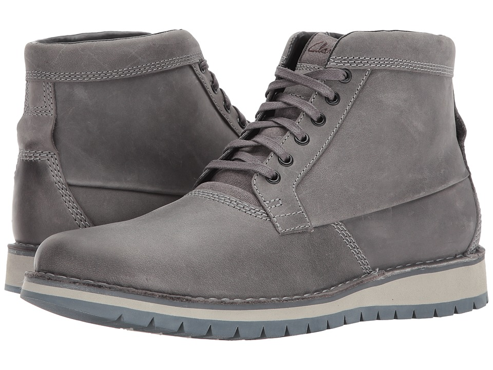Clarks Varby Top (Dark Grey Leather) Men