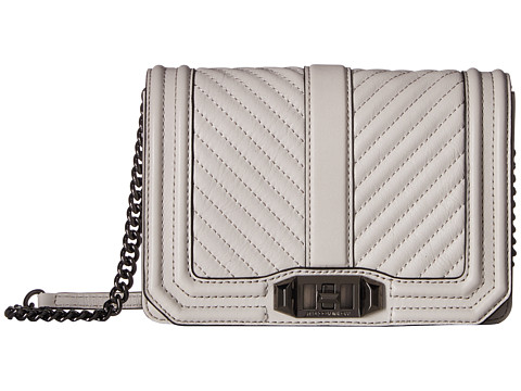 Rebecca Minkoff Chevron Quilted Small Love Crossbody - Putty
