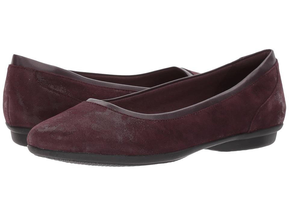 Clarks Gracelin Mara (Aubergine) Women's Shoes
