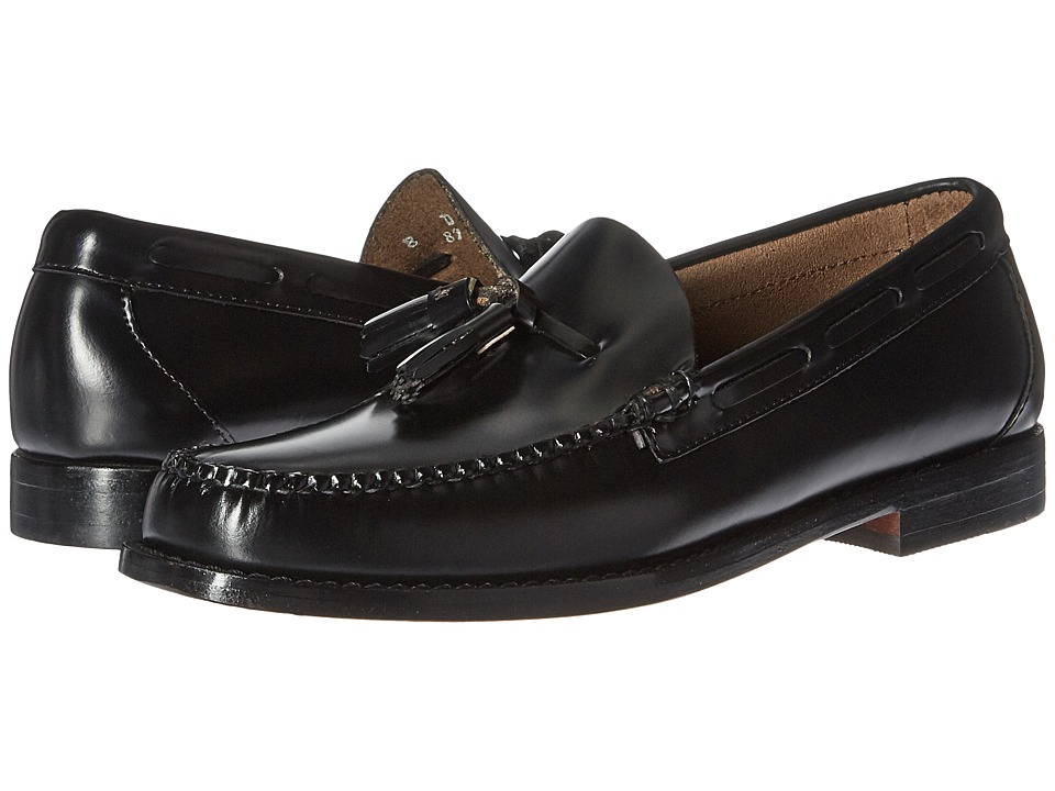 G.H. Bass & Co. - Lexington Tassel Weejuns (Black Box Leather) Mens Slip-on Dress Shoes