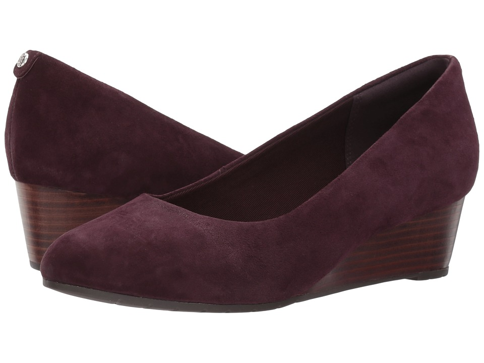 Clarks - Vendra Bloom (Aubergine Suede 2) Womens  Shoes