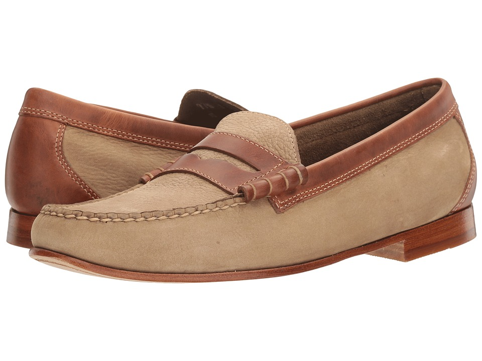 1940s Style Mens Shoes G.H. Bass amp Co. - Lambert Weejuns TaupeDark Tan Nubuck Mens Slip-on Dress Shoes $77.99 AT vintagedancer.com