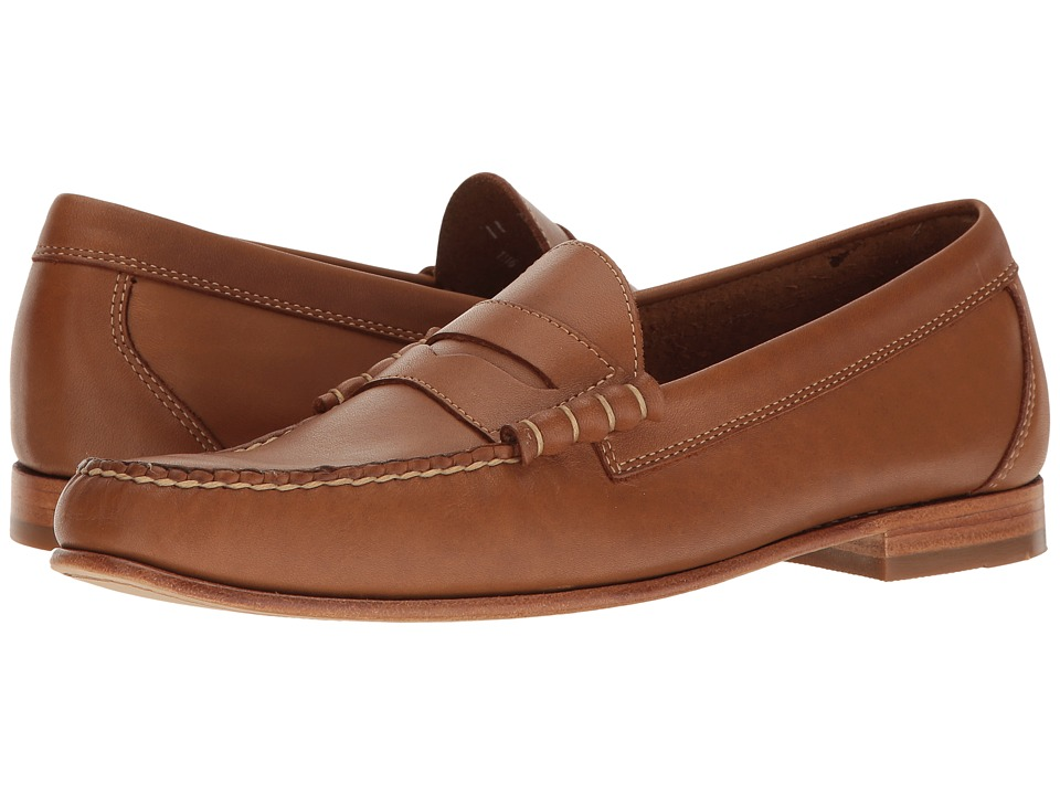 Rockabilly Men's Clothing G.H. Bass amp Co. - Lambert Weejuns British Tan Burnished Full Grain Mens Slip-on Dress Shoes $110.00 AT vintagedancer.com