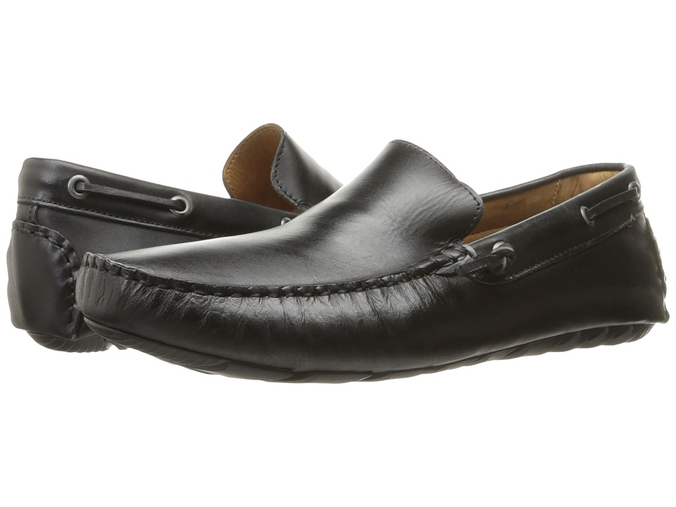 G.H. Bass & Co. Walter (Black Burnished Full Grain) Men
