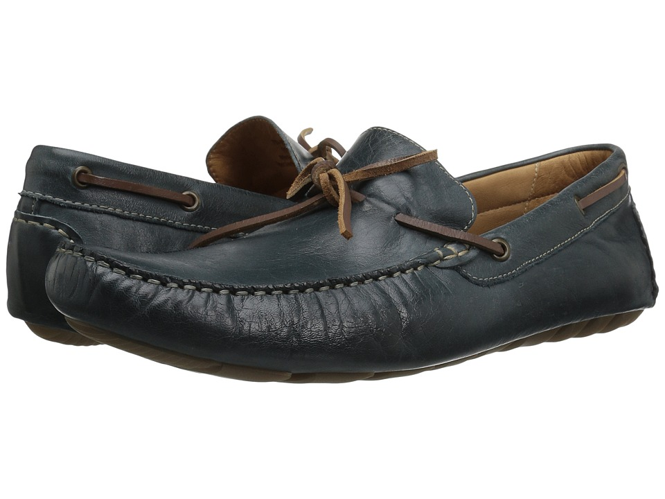 G.H. Bass & Co. Wyatt (Navy Distressed Full Grain) Men