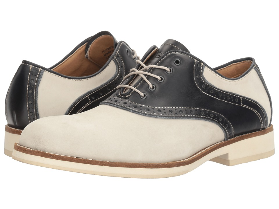 1940s Style Mens Shoes G.H. Bass amp Co. - Noah OysterNavy Nubuck Mens Lace up casual Shoes $94.95 AT vintagedancer.com