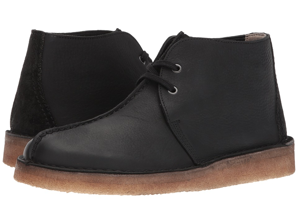 Clarks Desert Trek Hi (Black Leather) Men