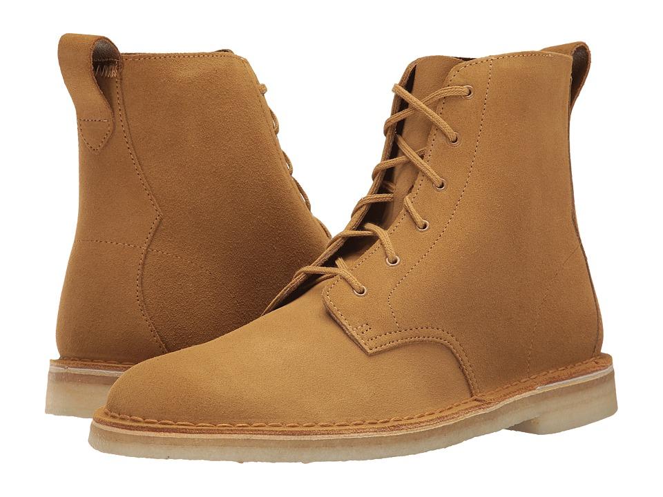 60s Mens Shoes | 70s Mens shoes – Platforms, Boots Clarks - Desert Mali Boot Dark Ochre Suede Mens Lace-up Boots $160.00 AT vintagedancer.com