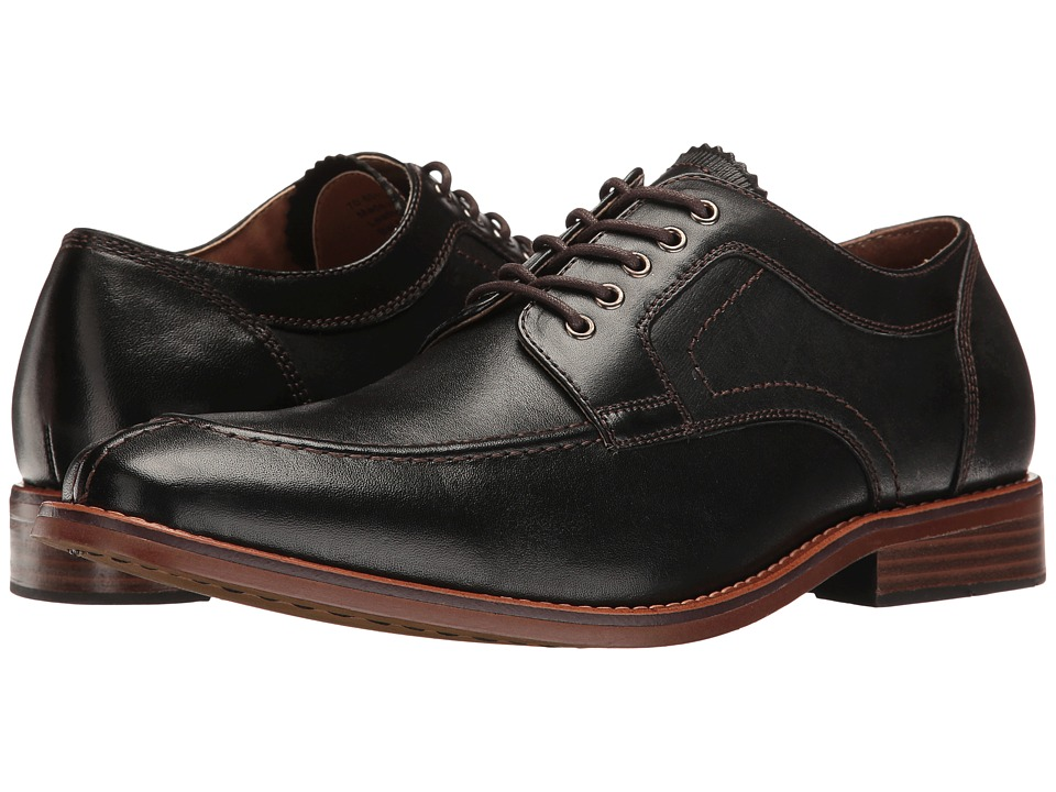 G.H. Bass & Co. Carsen (Black Burnished Full Grain) Men