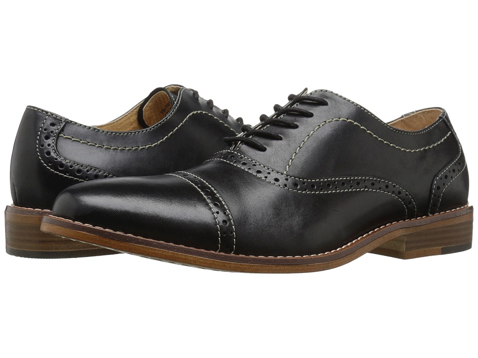 G.H. Bass & Co. Carnell (Black Burnished Full Grain) Men