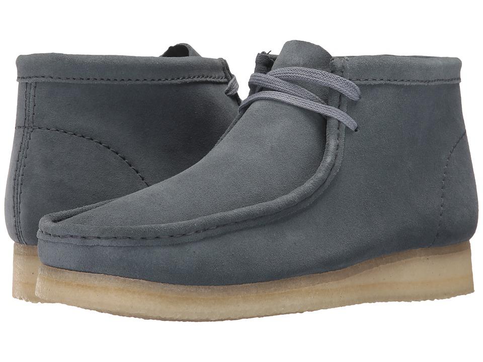 Clarks Wallabee Boot (Slate Blue Suede) Men