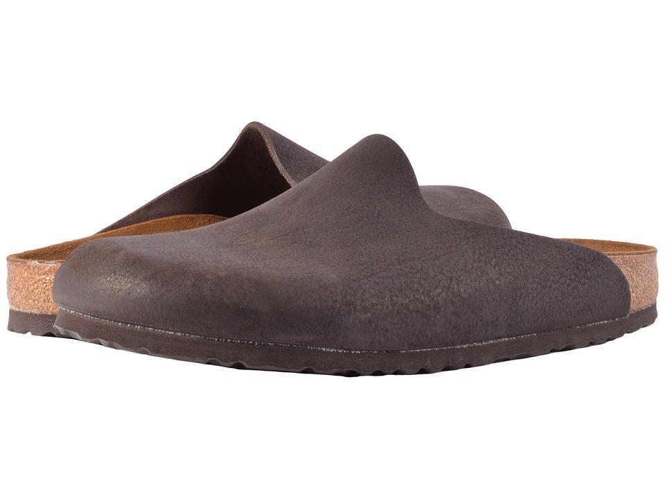 Birkenstock - Amsterdam (Chocolate Nubuck) Women's Slip on  Shoes