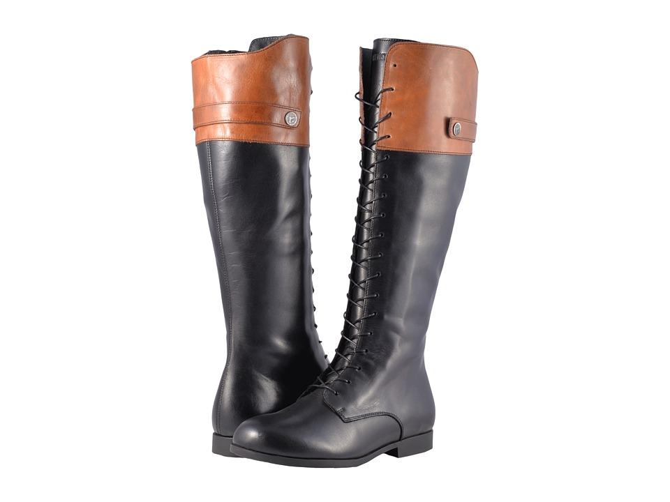 Birkenstock Longford (Black/Camel Leather) Women