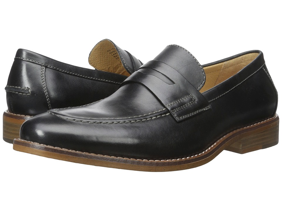 G.H. Bass & Co. Conner (Black Burnished Full Grain) Men
