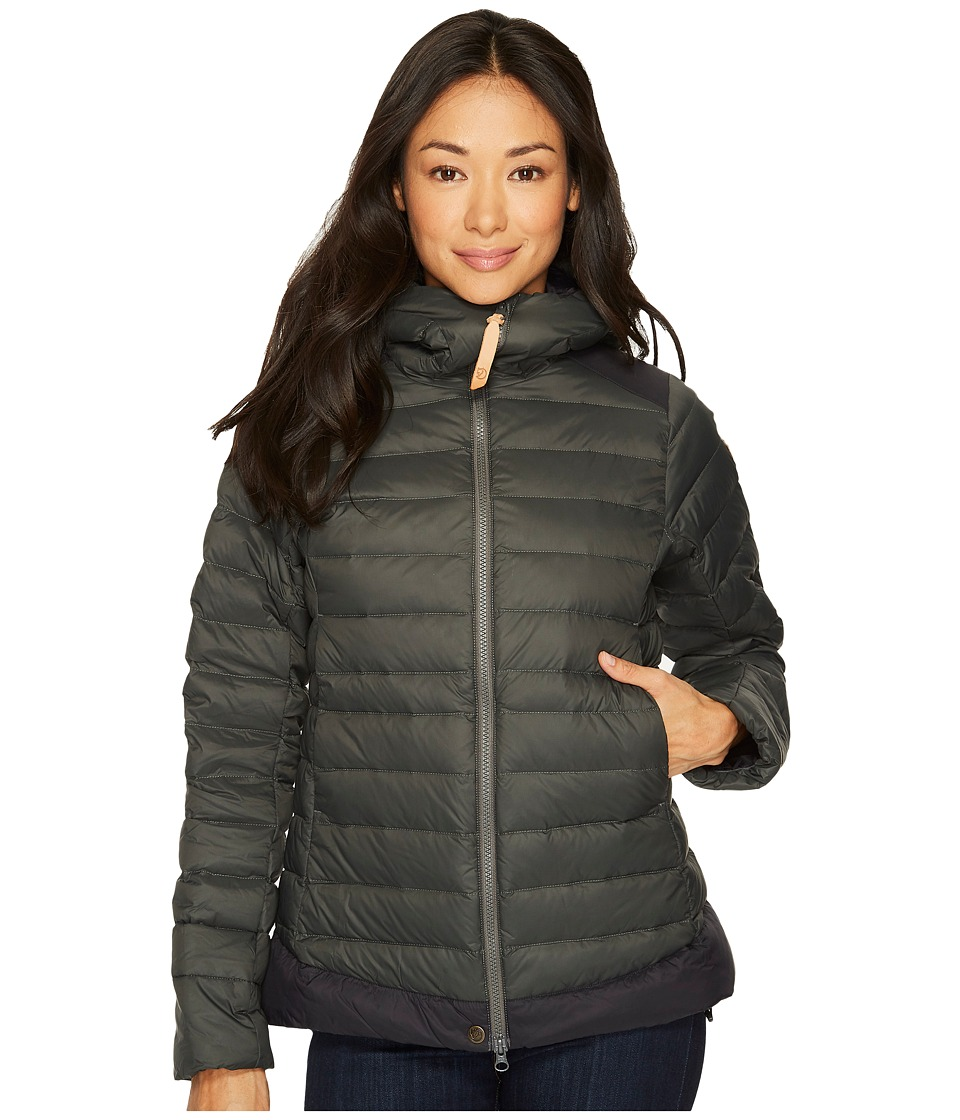 Fjallraven - Keb Touring Down Jacket (Stone Grey/Black) Womens Coat