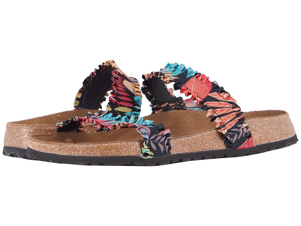 Birkenstock - Curacao (Flower Frill Black Textile) Womens Sandals